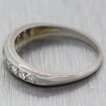1940's Antique Art Deco Platinum 0.50ctw Diamond Wedding Band Ring