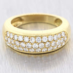 Van Cleef & Arpels 18K Yellow Gold 1.00ctw Diamond Pave 7mm Band Ring $4800 A9