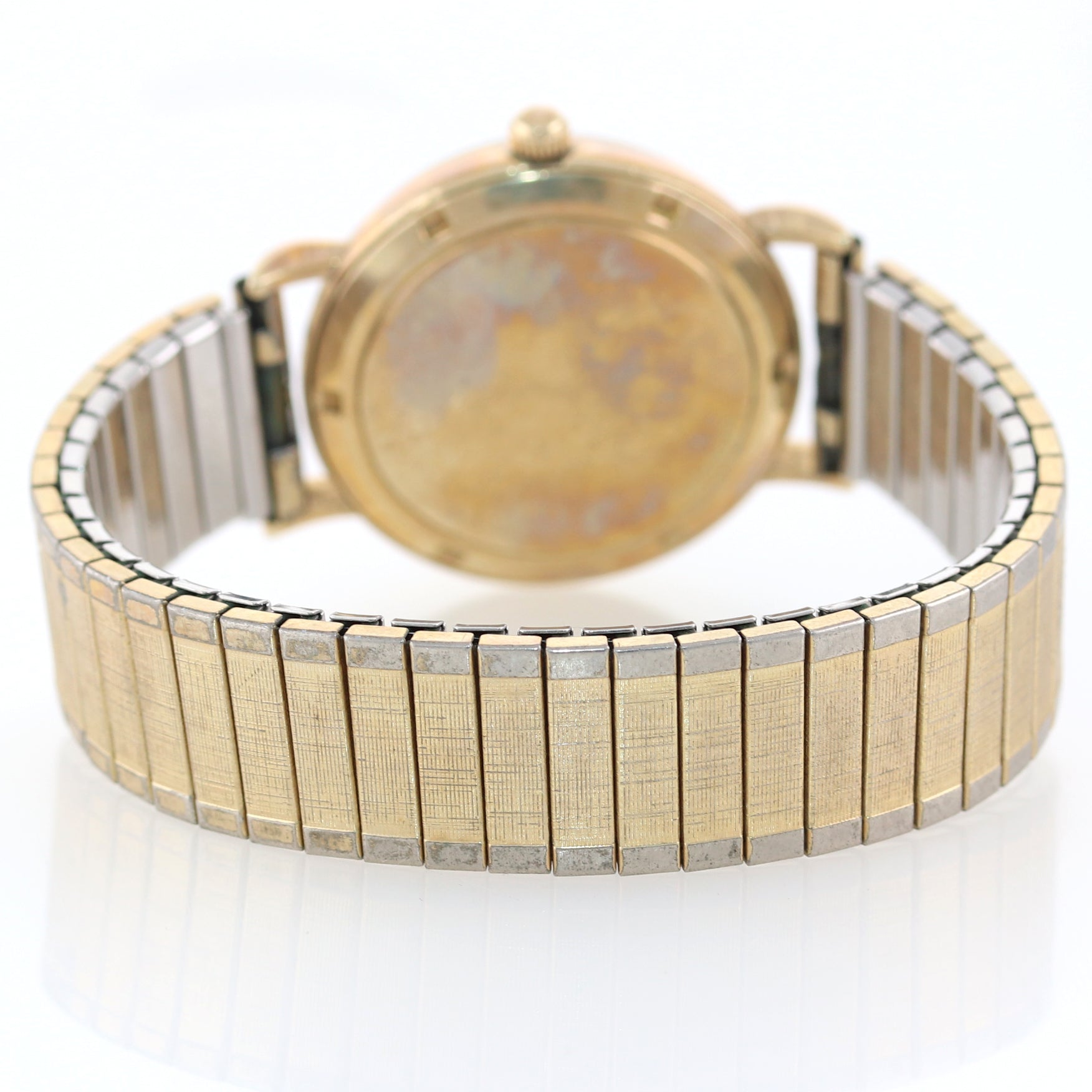 VTG Le Coultre 14k Yellow Gold Mystery Dial Automatic Bumper Movement Watch