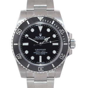 2018 PAPERS Rolex Submariner No-Date 114060 Steel Black Ceramic Dive Watch Box