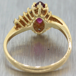 Vintage Estate 14k Yellow Gold 0.75ctw Ruby & Diamond Ring