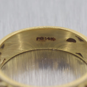 1930's Antique Art Deco 14k Yellow Gold Floral Band Ring