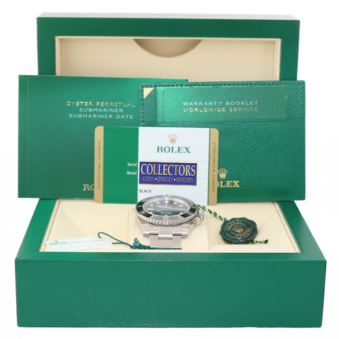 MINT 2015 PAPERS Rolex Submariner No-Date 114060 Steel Black Ceramic Watch Box