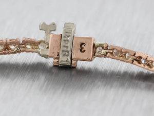 "Lovely Ladies 14K Rose Gold 2.47ctw Diamond 7.00"" Tennis Bracelet"