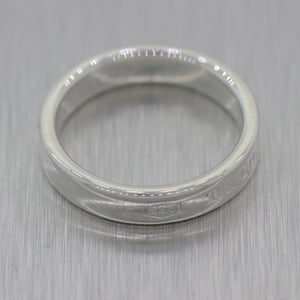 1837 Tiffany & Co. Sterling Silver Wedding Band Ring