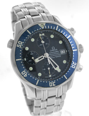 Omega Seamaster Professional Chronograph 300M 2599.80 Blue Wave Automatic Watch