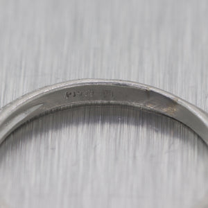 1930's Antique Art Deco Platinum Etched Wedding Band Ring