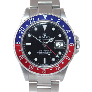 2006 PAPERS PEPSI Rolex GMT-Master II Steel 16710 40mm Blue Red Watch SEL Box
