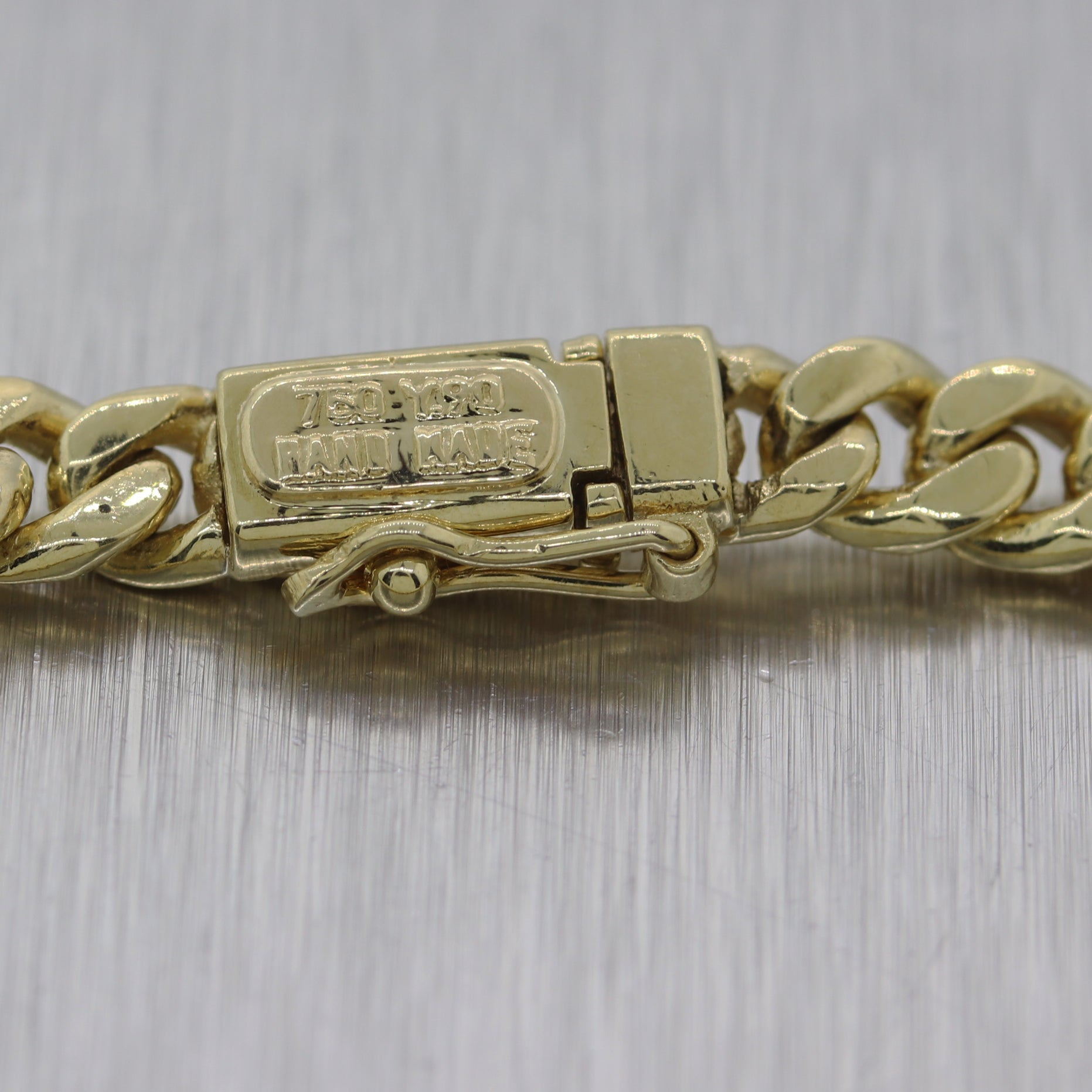 Modern 23.20G 18k Yellow Gold Miami Cuban Link Bracelet
