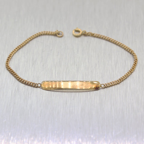 Antique Tiffany & Co. 14k Yellow Gold Baby ID Bracelet