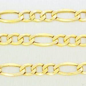 "Men's Modern 10k Solid Yellow Gold 22"" 9.3g Mariner Link Chain"