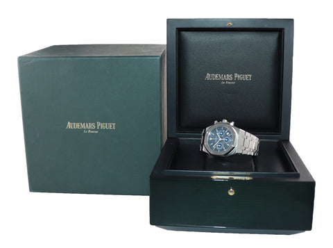 Audemars Piguet Royal Oak Chrono 39mm Blue Steel 25860ST.OO.1110ST.01 Watch Box