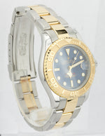 Rolex Yacht-Master 68623 Blue T 35mm SWISS MADE LUME 18K Two Tone Gold Watch