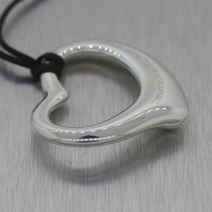 "Tiffany & Co Elsa Peretti Sterling Silver Extra Large Open Heart 18"" Necklace"