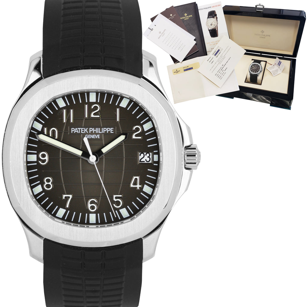 Patek Philippe Aquanaut Stainless Steel Black Jumbo 40mm Watch 5167 5167A-001