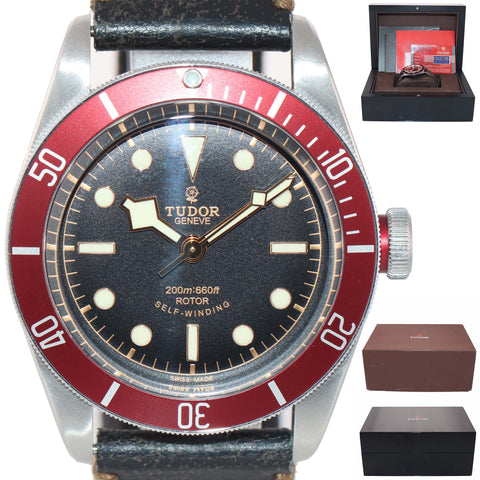 MINT PAPERS Tudor Black Bay Heritage Red 79220R Black Rose 41mm Steel Dive Watch