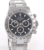 2010 Rehaut Rolex Daytona 116520 Black Steel New Style Fat Buckle 40mm Watch Box