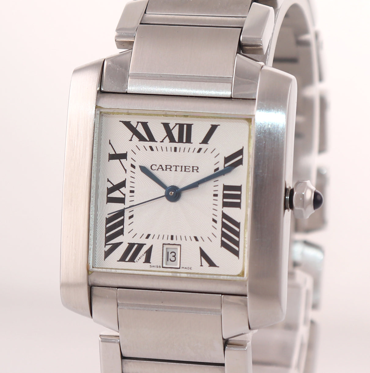 Cartier Tank Francaise Full-Size Automatic Steel Date Watch W51002Q3 2302
