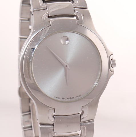 Movado Museum Stainless Steel 84 G1 1898 Quartz Grey Dial 36mm Watch