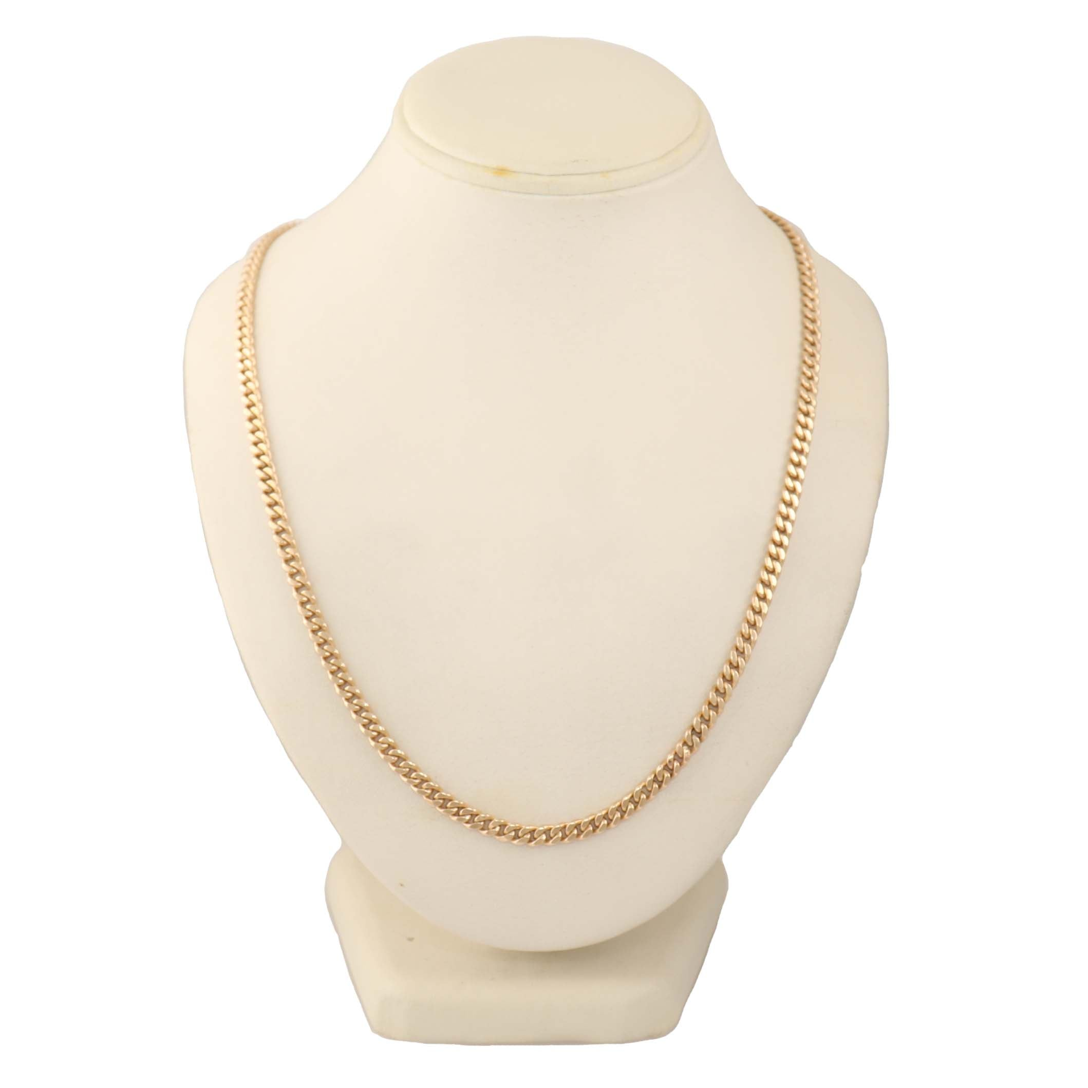 "Men's 14k Yellow Gold 36.40G Cuban Link 20.5"" Necklace"