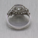 1930's Antique Art Deco Platinum 1ctw Diamond Ring