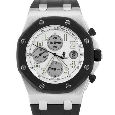 Audemars Piguet Royal Oak Offshore 42mm Rubberclad Silver White 25940SK Watch