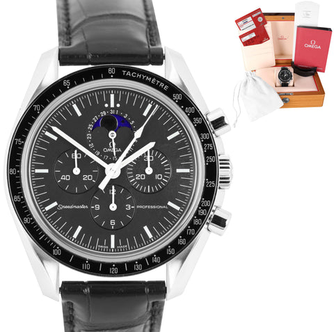 Omega Speedmaster Chronograph Moonphase Sapphire Sandwich 42mm Watch 3876.50.31