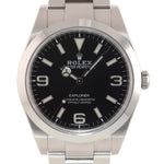 MINT 2019  Rolex 214270 Explorer Black Arabic BLUE LUME 3-6-9 Steel 39mm Watch