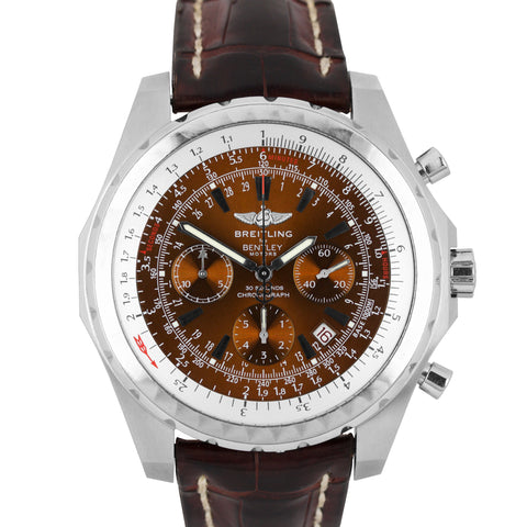 Breitling Bentley Motors Bronze Stainless Steel A25363 48.7mm Chronograph Watch