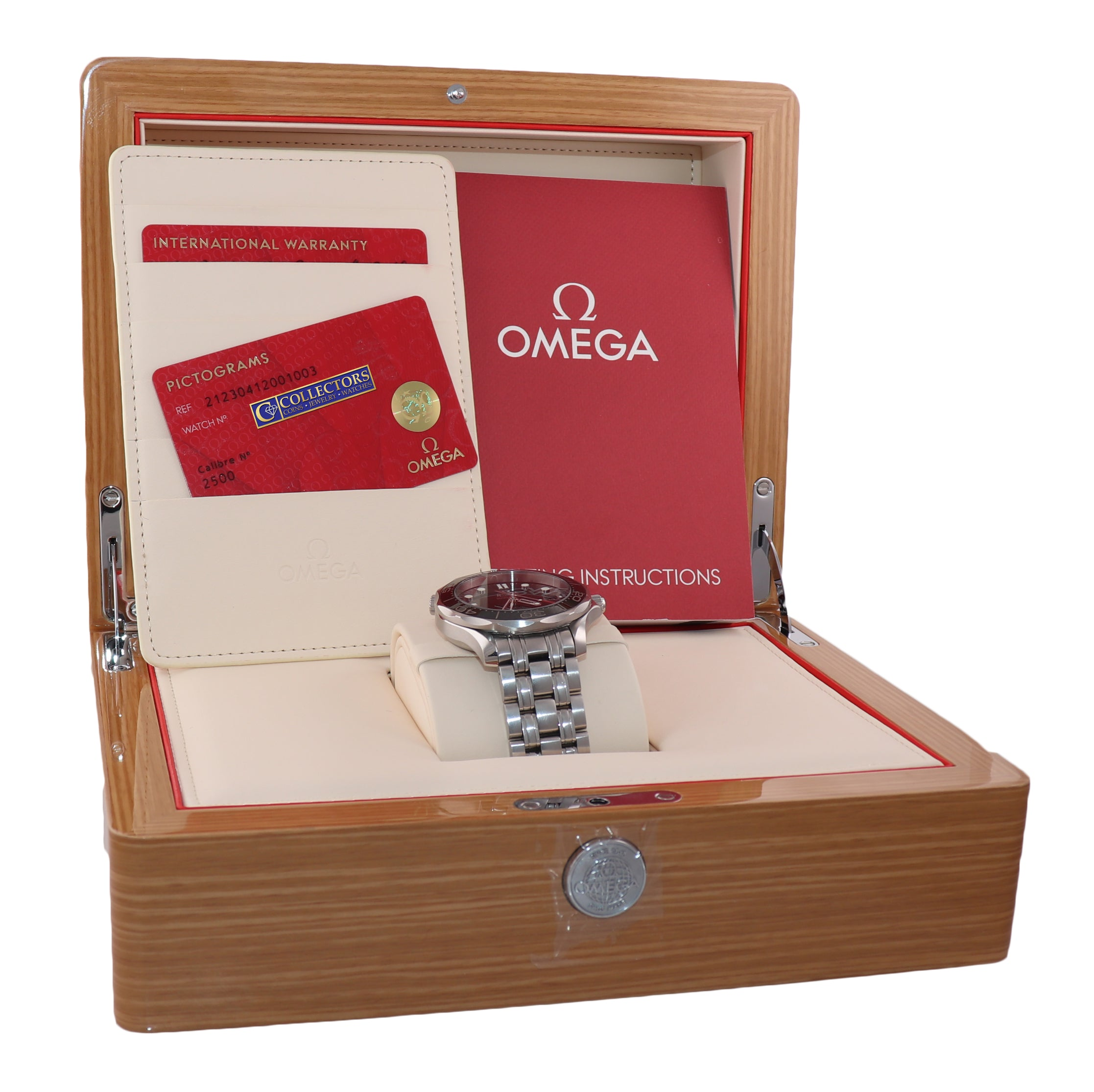 MINT PAPERS Omega Seamaster Black Co-Axial 300M 212.30.41.20.01.003 Date Watch