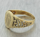 1880s Antique Victorian 9ct Solid Yellow Gold Monogrammed Signet Ring