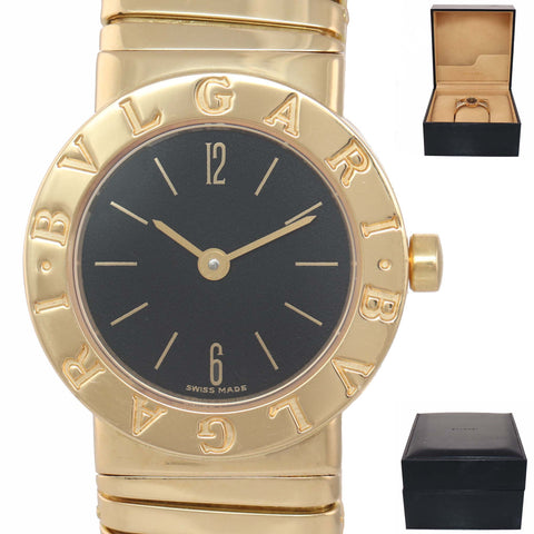 MINT Ladies Bvlgari Bulgari Tubogas Serpanti 18k Gold Quartz BB232T 23mm Watch