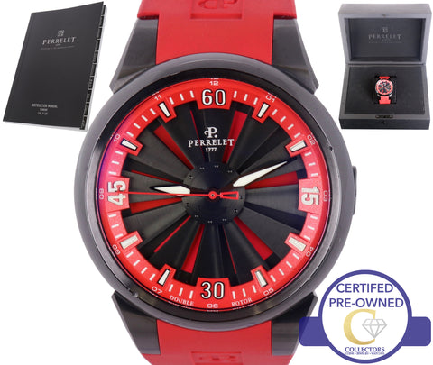 Perrelet Turbine Racing Stainless Steel Black Automatic Watch A10476 A1047/6