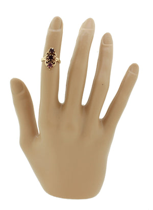 Vintage Estate Women's 10k Yellow Gold Amethyst Gemstone Filigree Cocktail Ring