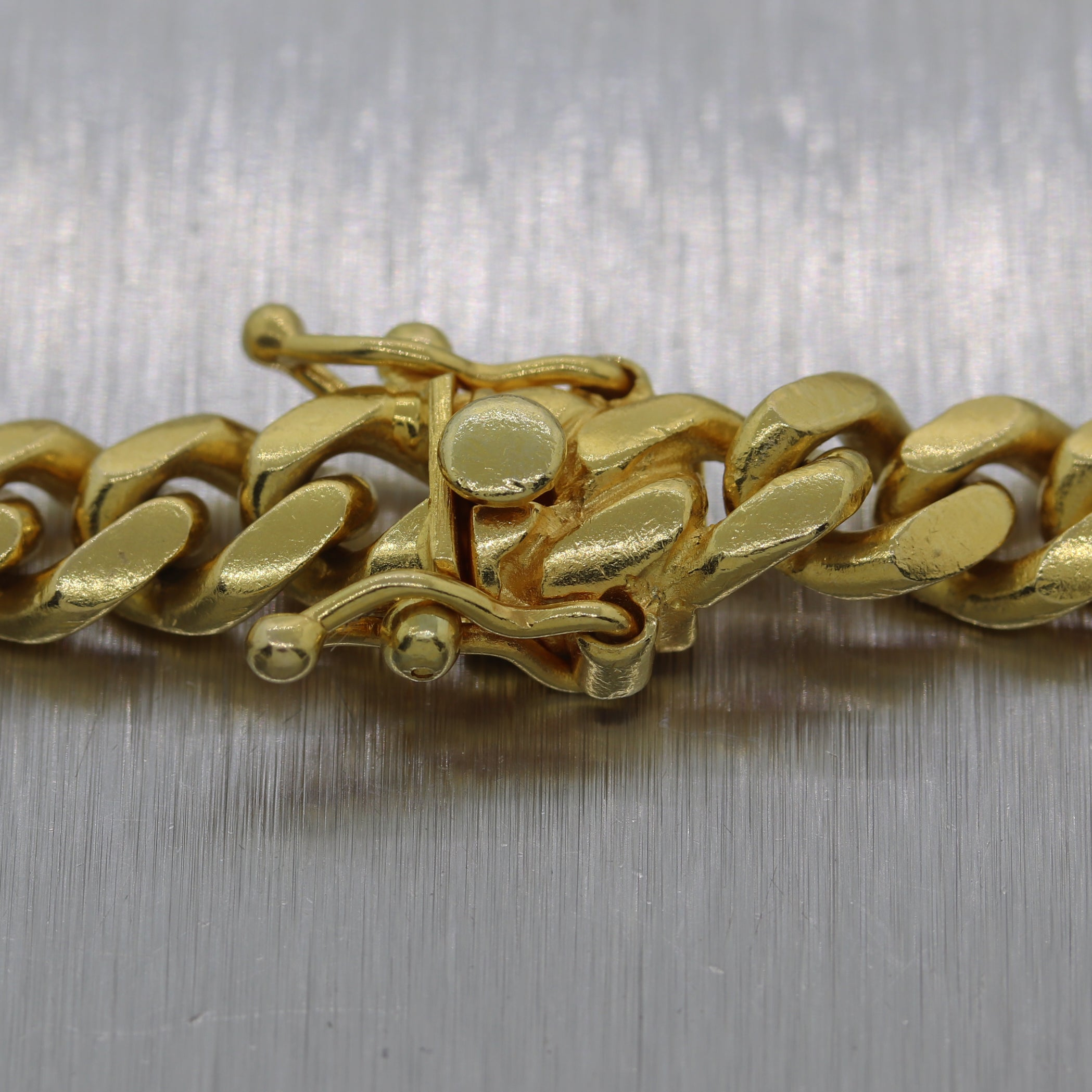"Modern 111.3g 14k Yellow Gold Miami Cuban Link 30"" Chain Necklace"