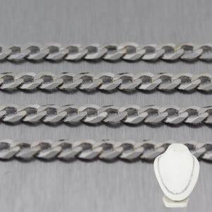 "Mens Modern 14k White Gold Cuban Curb Link 24"" Chain Necklace"
