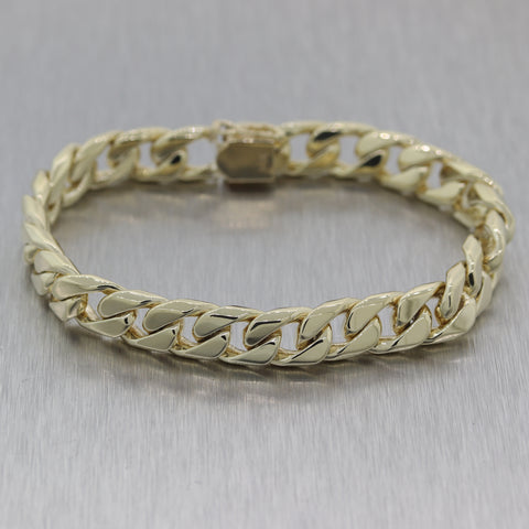 Modern 48.97g 14k Yellow Gold Cuban Curb Link Chain Bracelet