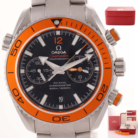 MINT Omega Seamaster Planet Ocean Chronograph Steel Watch 232.30.46.51.01.002 A8
