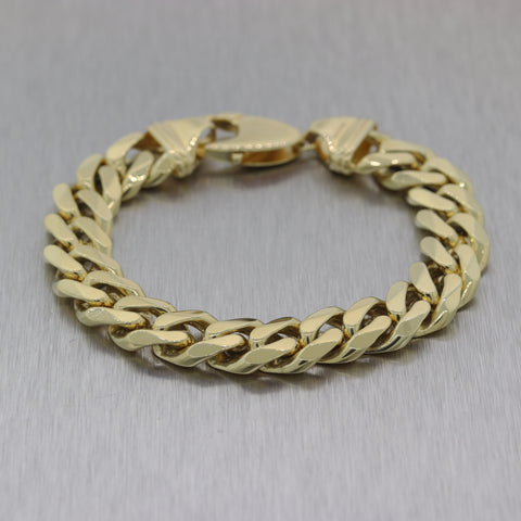 Modern 67.92g 14k Yellow Gold Cuban Curb Link Bracelet