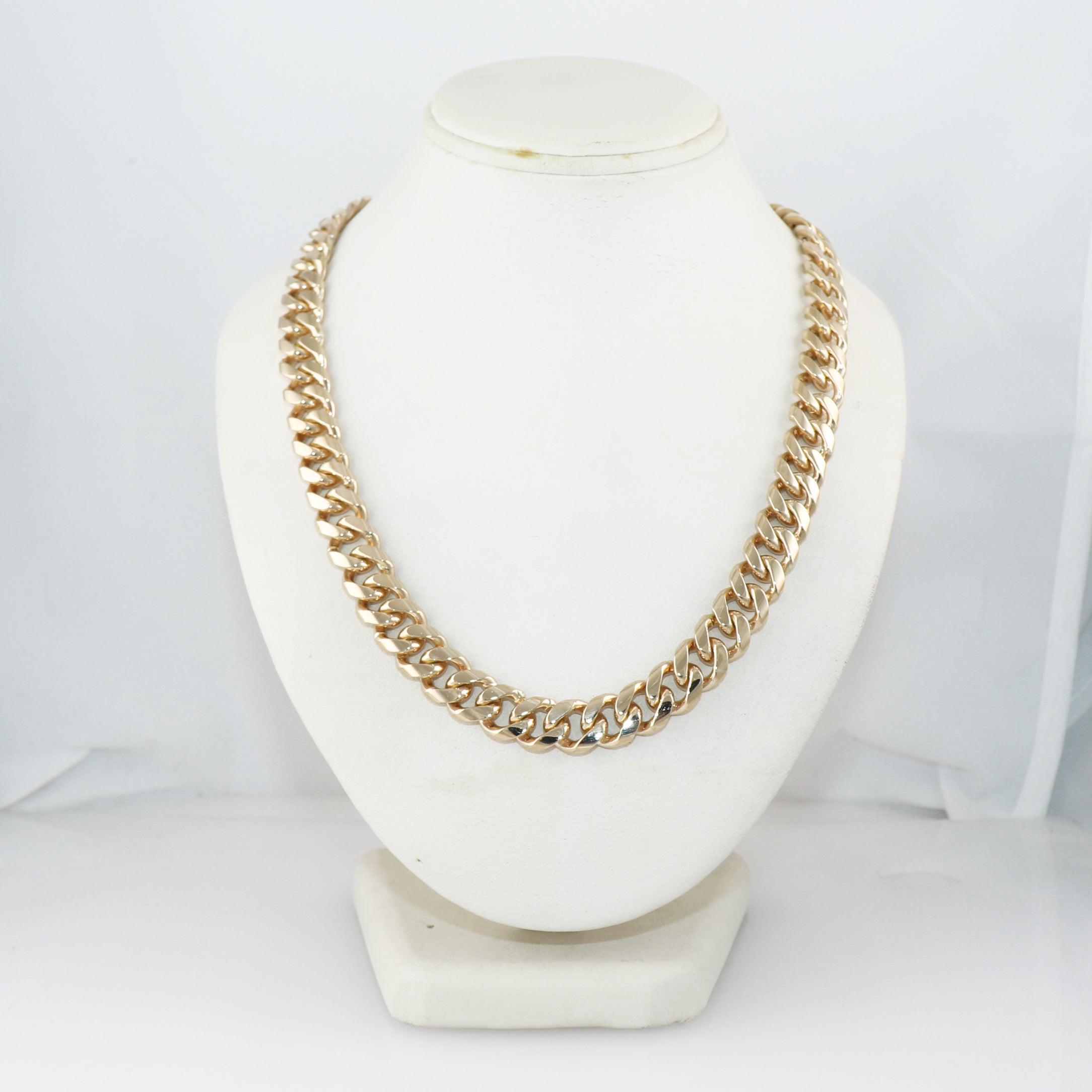 "Modern 181g 14k Yellow Gold Cuban Link 24"" Chain Necklace"