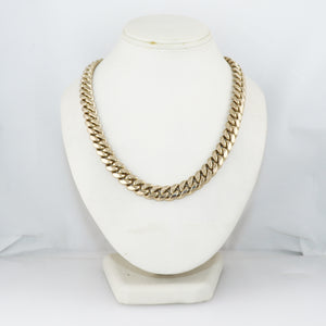 "Modern 232.1g 14k Yellow Gold VIP Miami Cuban Link 26"" Chain Necklace"