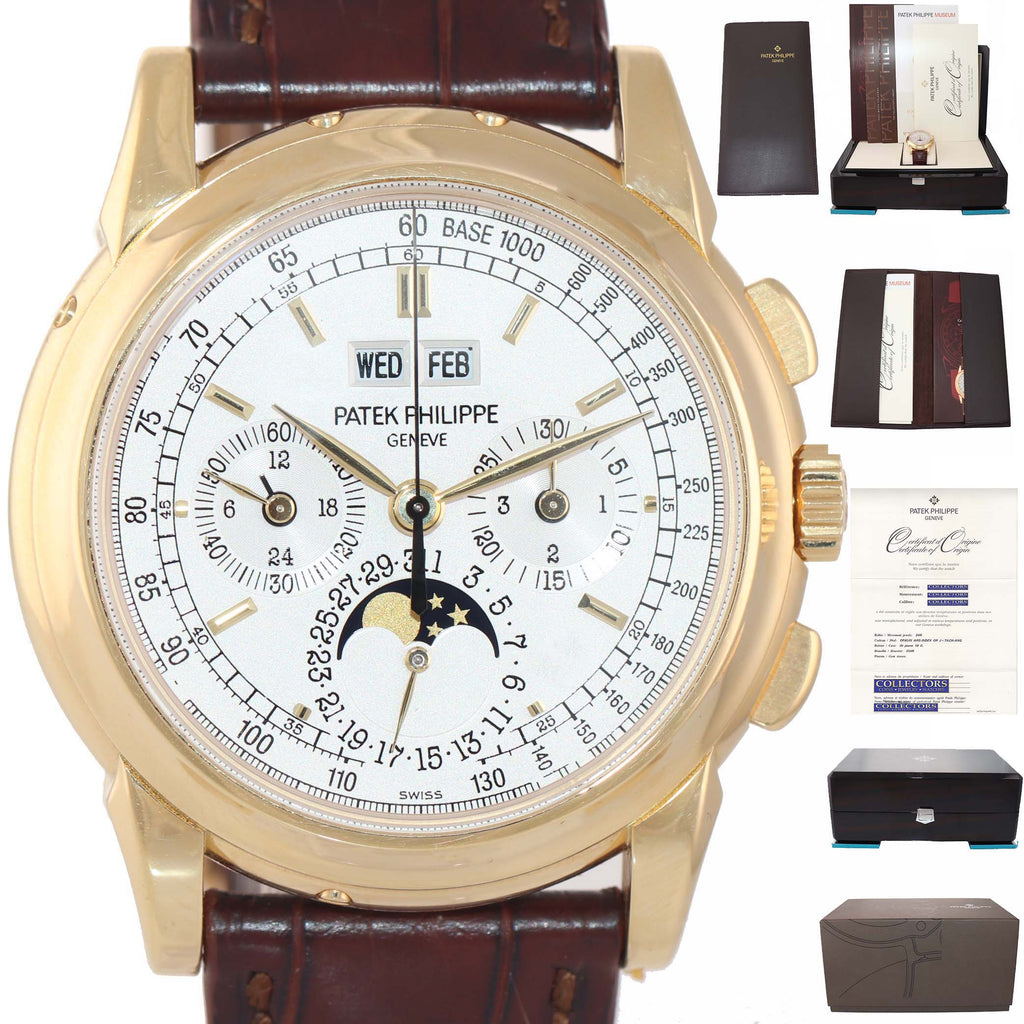 RARE COMPLETE Patek Philippe Grand Complication Perpetual Calendar 5970J Watch