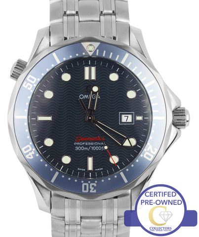 Omega Seamaster Professional 300M FADED Blue Red Wave Quartz 41mm 2221.80 Watch