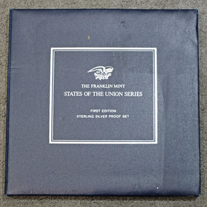 The Franklin Mint Fifty States of the Union Series Sterling Silver Proof Set