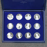 12 Proof Medallic Commemorative Society International 1977 Silver Coin Lot MM 1