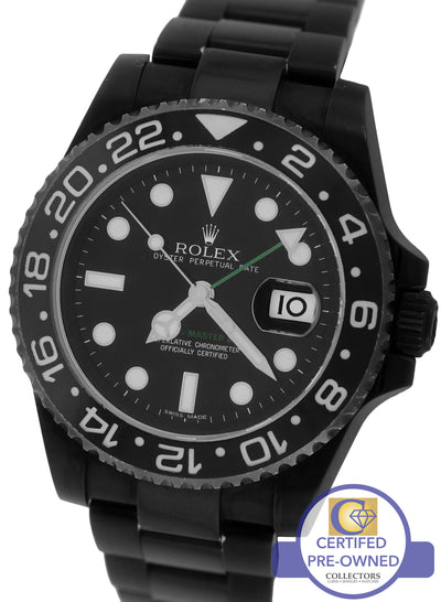 2014 Rolex GMT-Master II Stainless Black PVD Ceramic 116710 N LN 40mm Date Watch