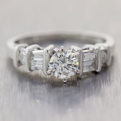 Vintage Estate Platinum 0.75ctw Diamond Engagement Ring
