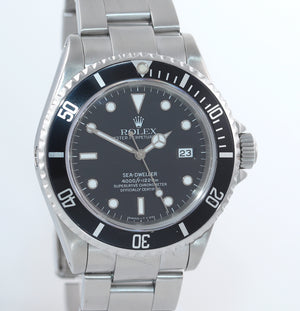 MINT Rolex Sea-Dweller Steel TRITIUM 16600 Black Dial Date 40mm Watch Box
