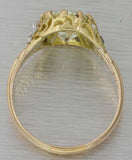 1880s Antique Victorian 14k Yellow Gold 2.89ctw Diamond Engagement Ring EGL $271