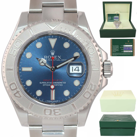 MINT PAPERS Rolex Yacht-Master 116622 Blue Steel Platinum Rolesium 40mm Watch Box
